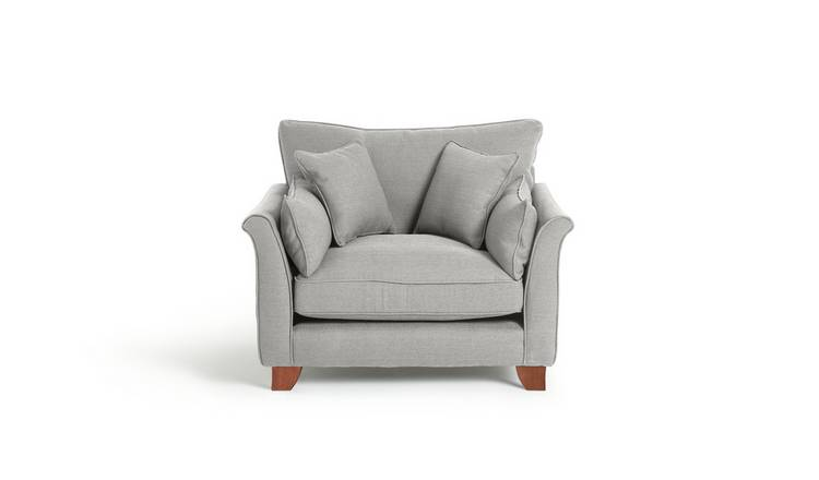 Habitat Gracie Fabric Cuddle Chair - Grey