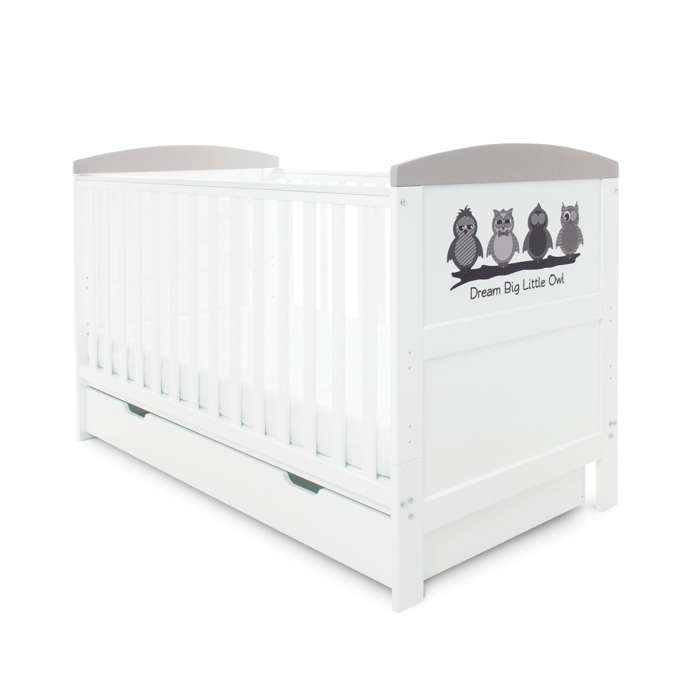 Babyhoot Coleby Style Cot Bed and Drawer - Owl