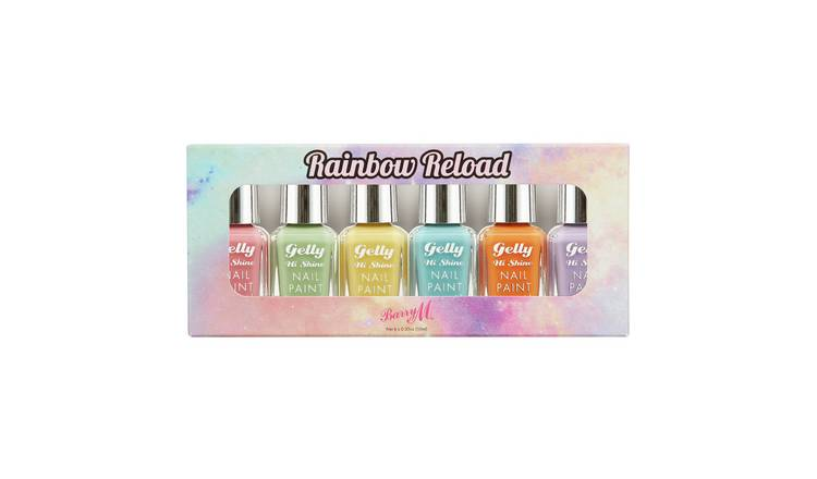 Barry M Cosmetics Rainbow Reload Nail Paint set x 6