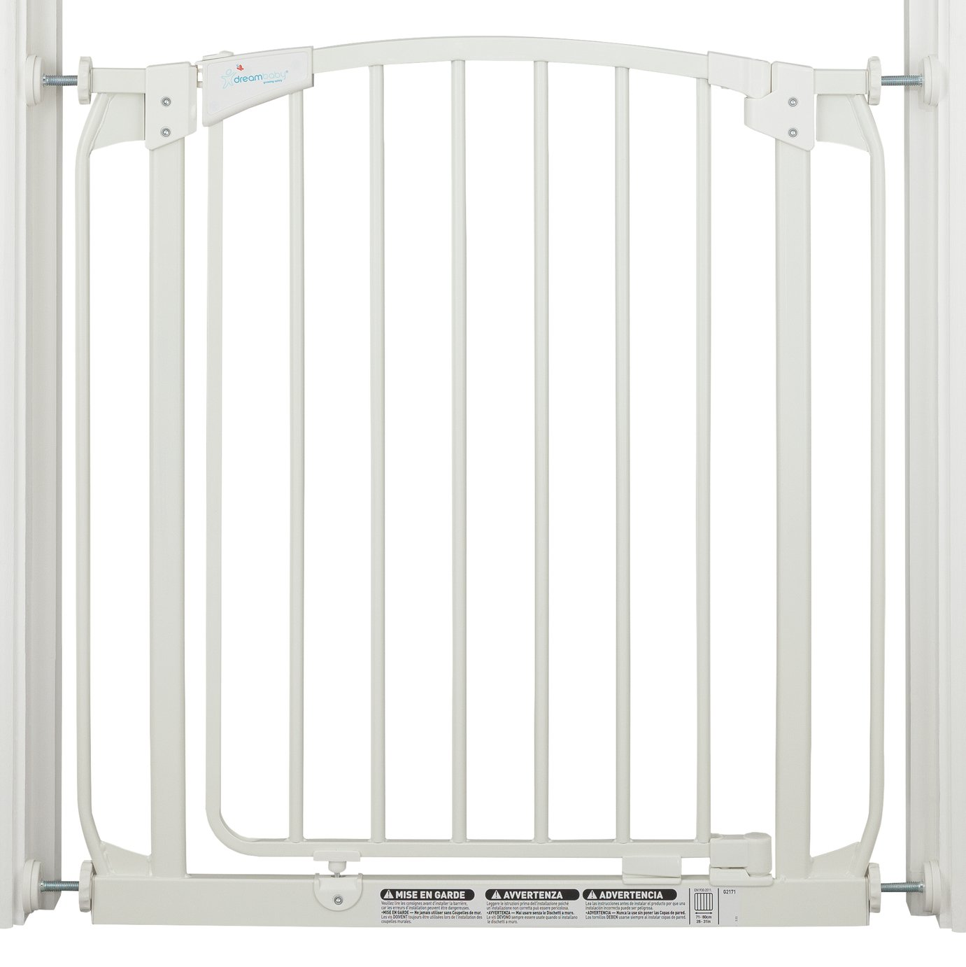 Dreambaby Chelsea Auto-Close White Gate (71-80cm)