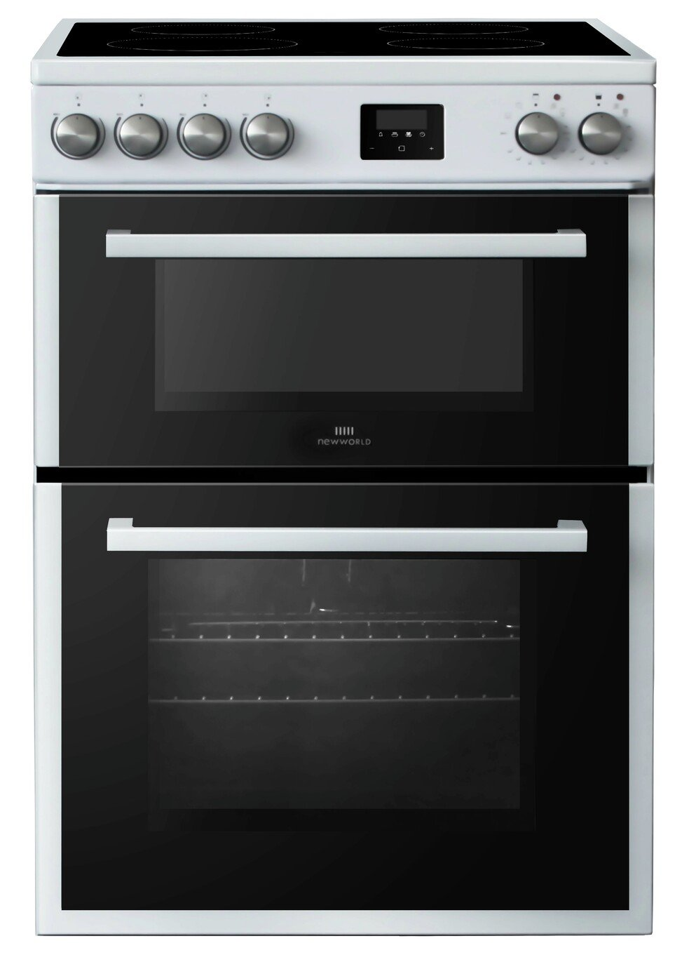 New World NWLS60DEW 60cm Double Oven Electric Cooker - White