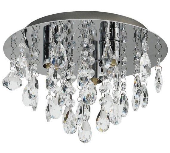 Buy collection ivy glass droplet ceiling light chrome ceiling collection ivy glass droplet ceiling light chrome aloadofball Images
