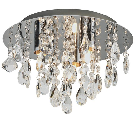 Buy collection ivy glass droplet ceiling light chrome ceiling click to zoom mozeypictures Gallery