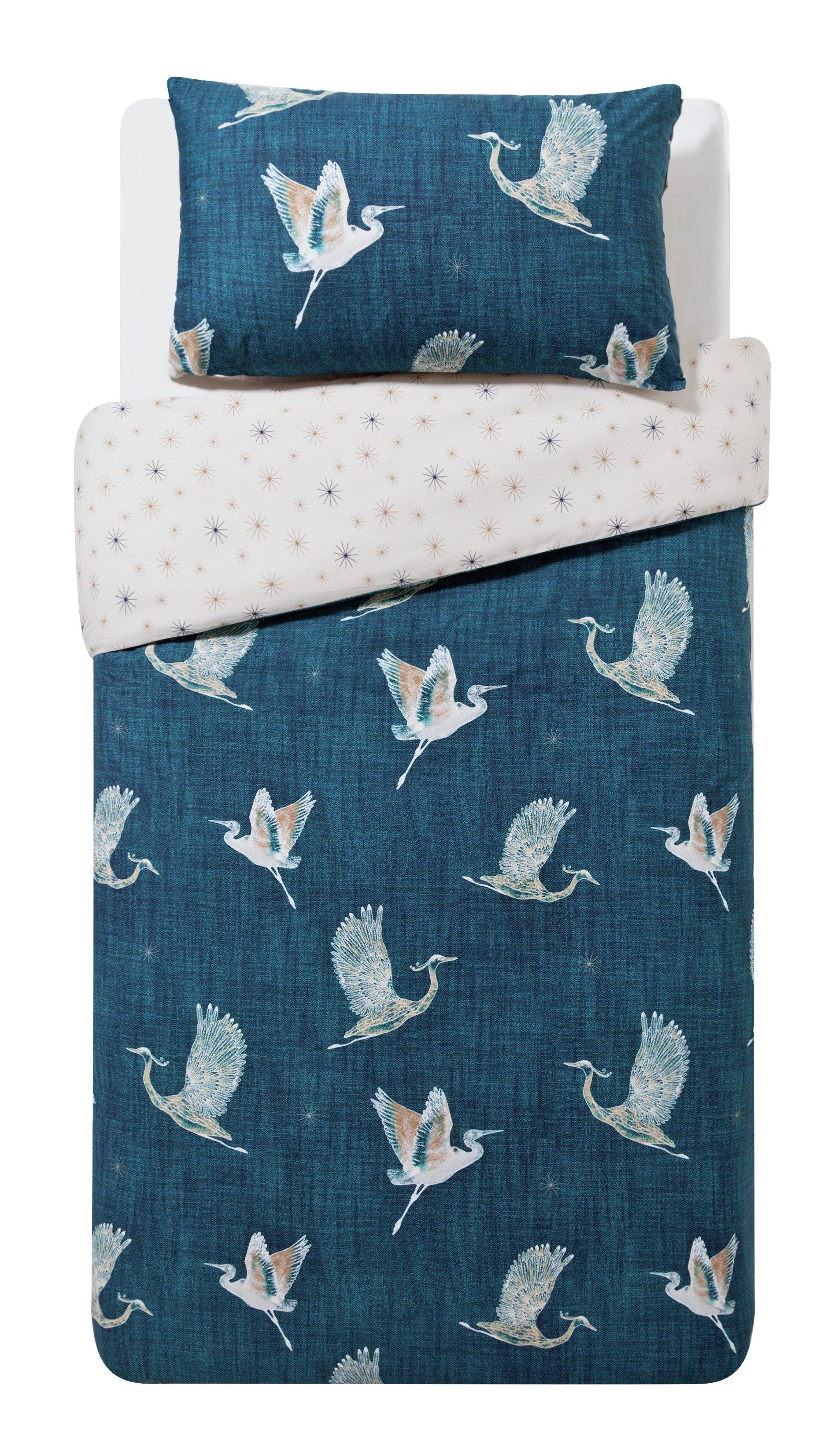 collection cranes bedding set  single