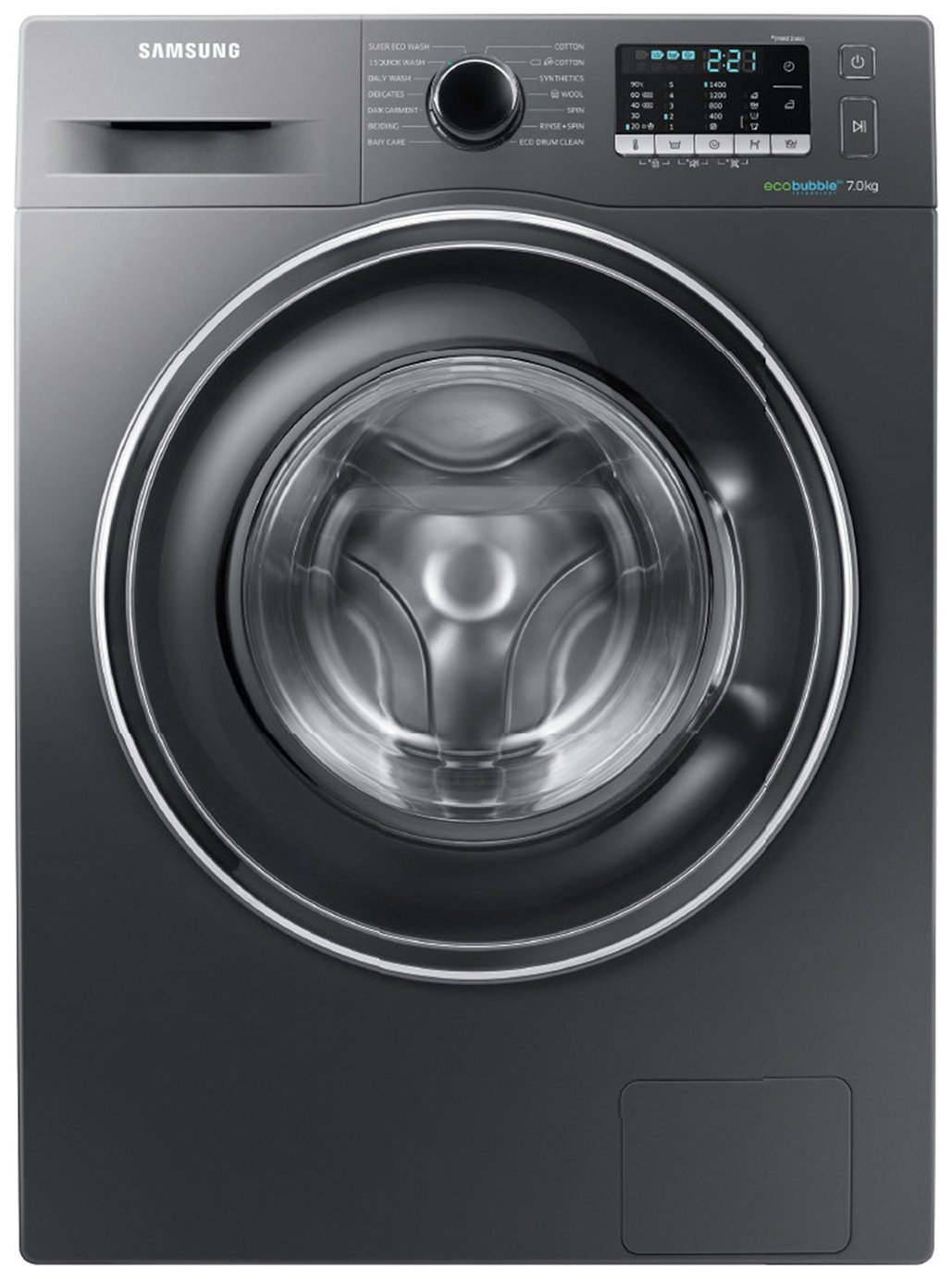 Image of Samsung WW70J5555EX 1400 Spin 7KG Washing Machine Graphite Del/Ins/Rec