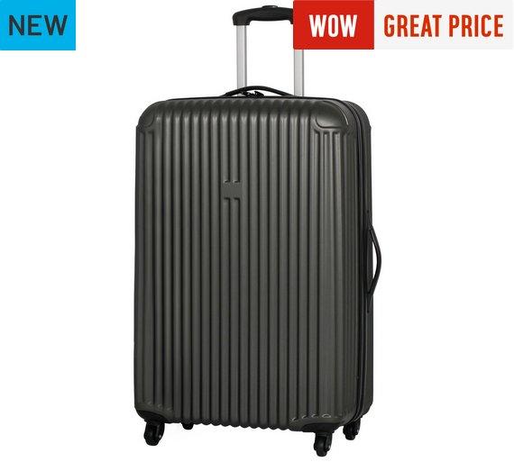 Buy IT Luggage Hard 4 Wheel Large Suitcase - Grey at Argos.co.uk ...