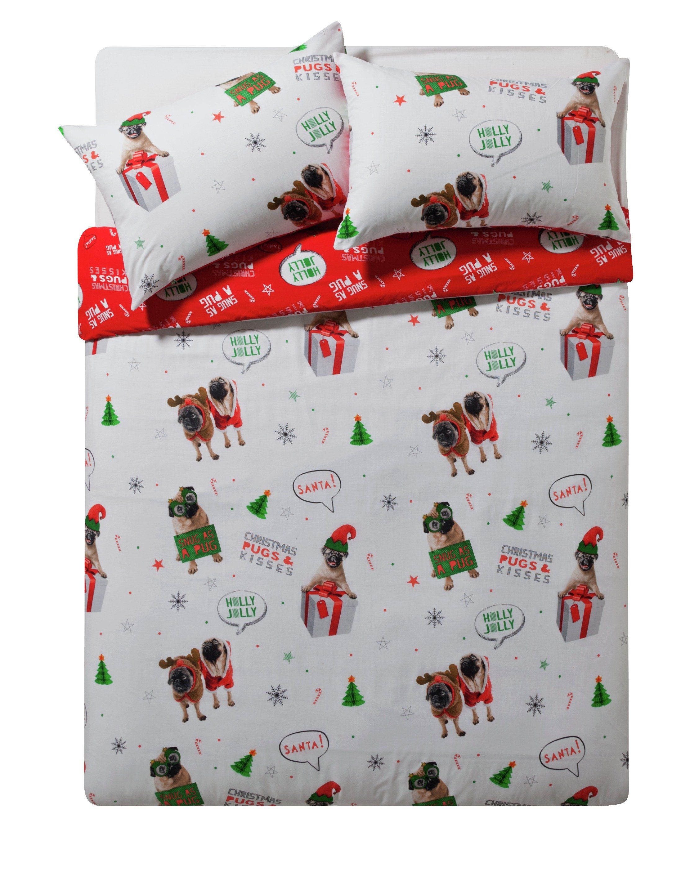HOME Merry Pugmas Bedding Set - Kingsize