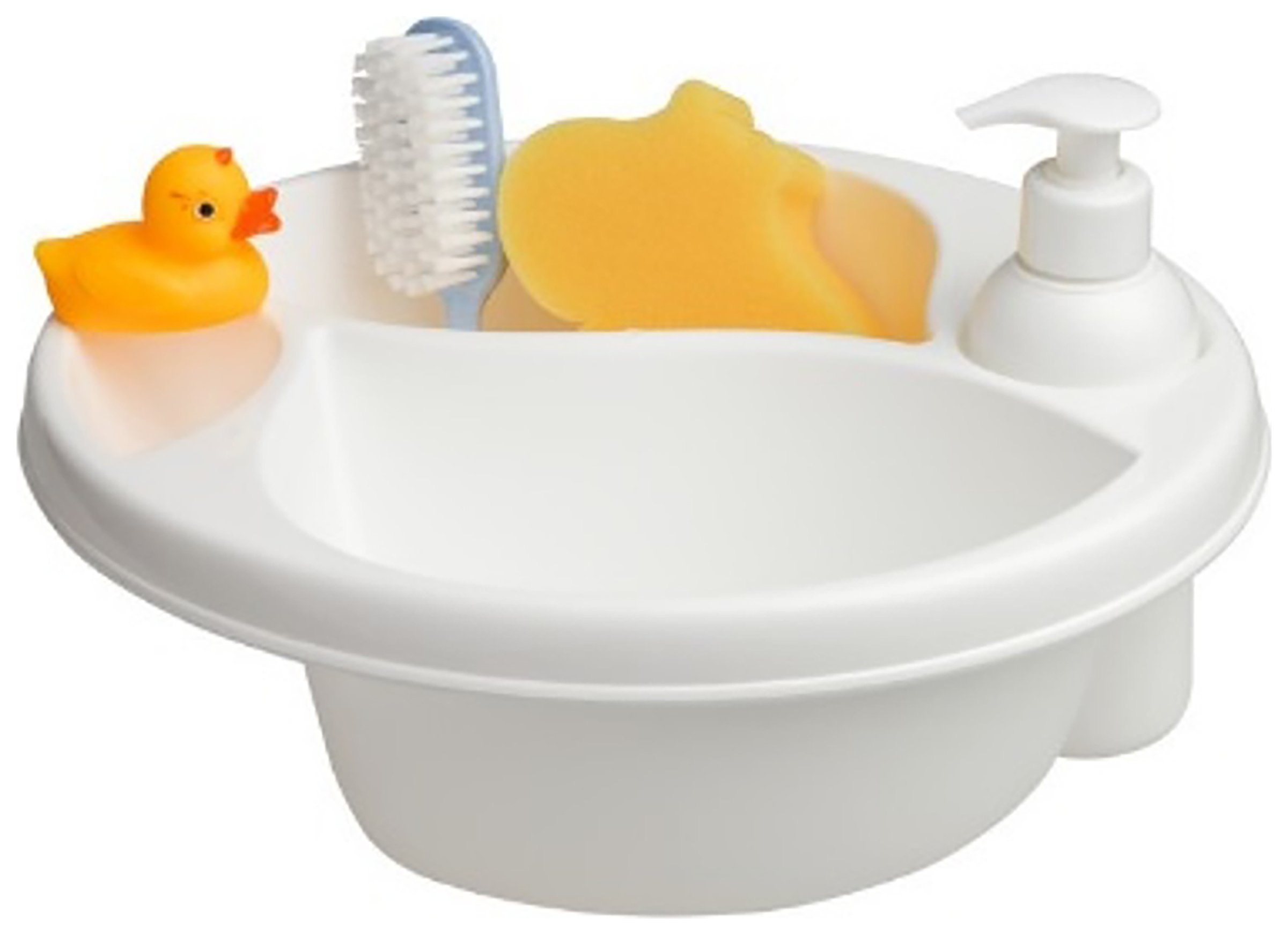 Image of Maltex Top & Tail Bath Bowl Baby Gift Set - White