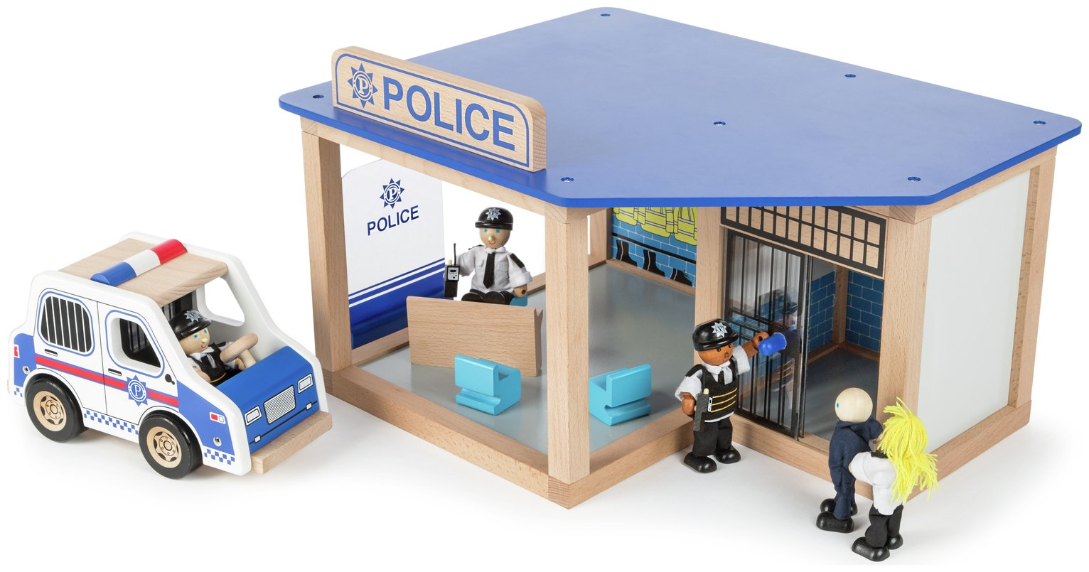 Tidlo Police Station Playset with Characters