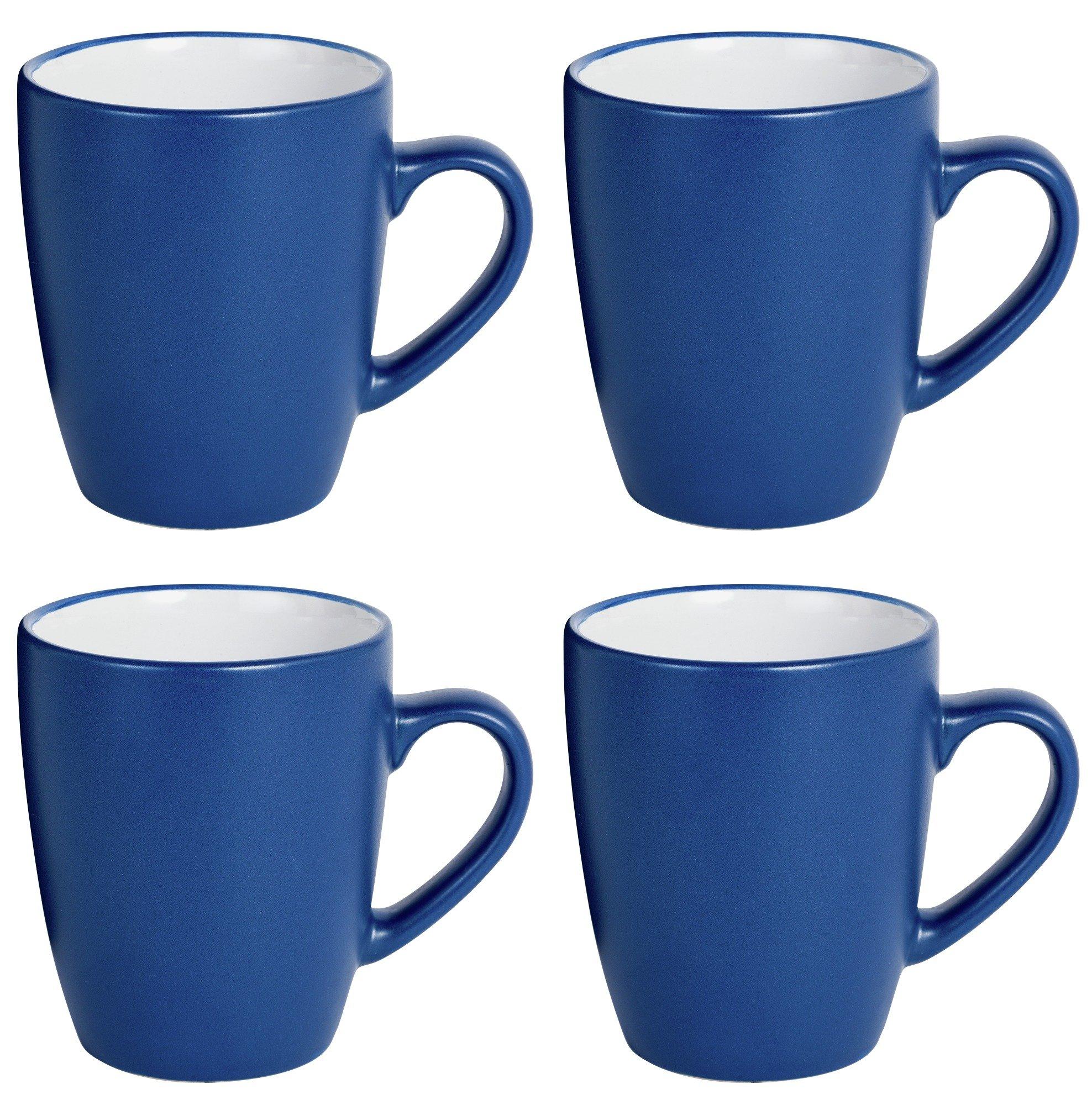 ColourMatch Set of 4 Mugs - Ink Blue.