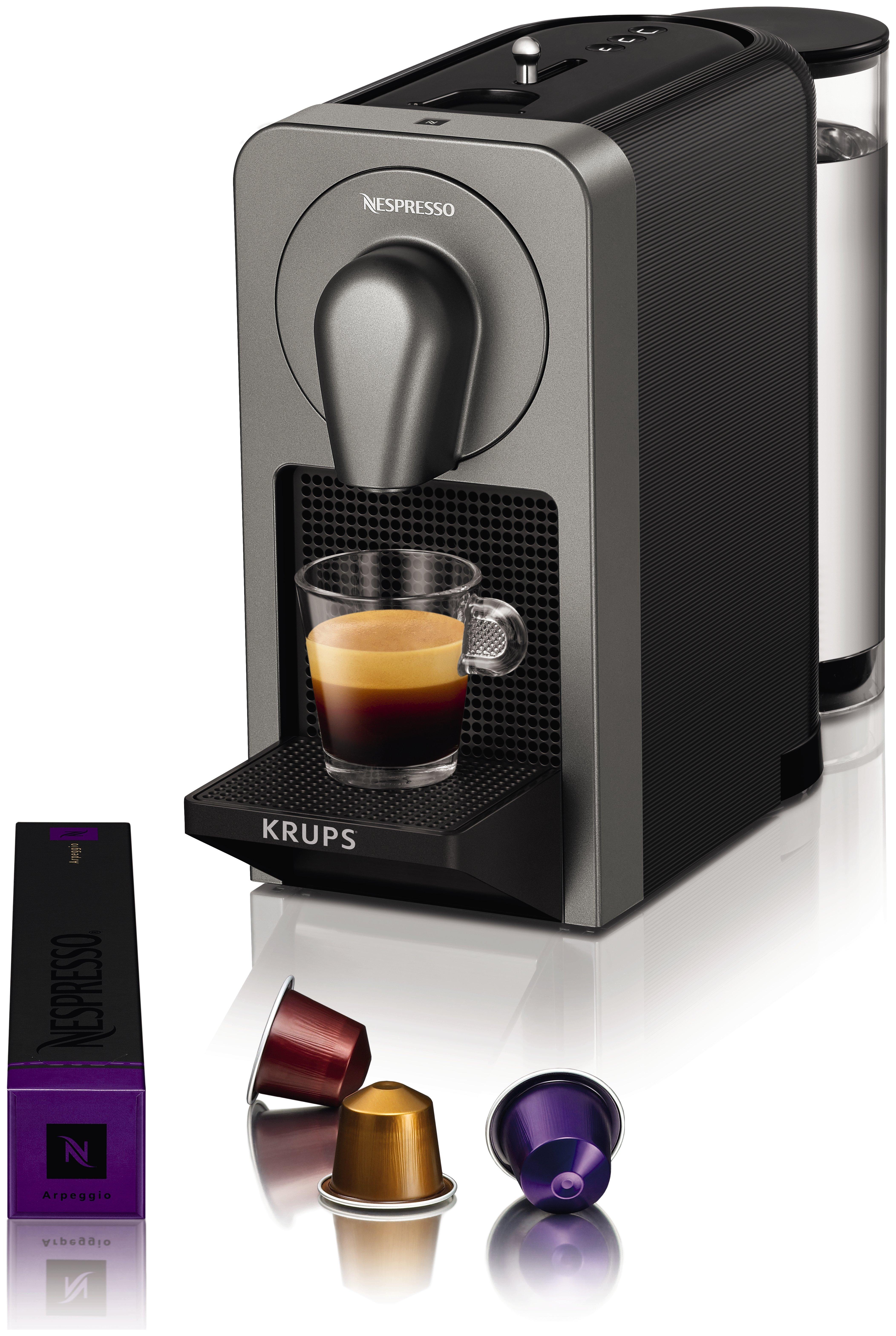 Nespresso Prodigio Coffee Machine by KRUPS - Titanium