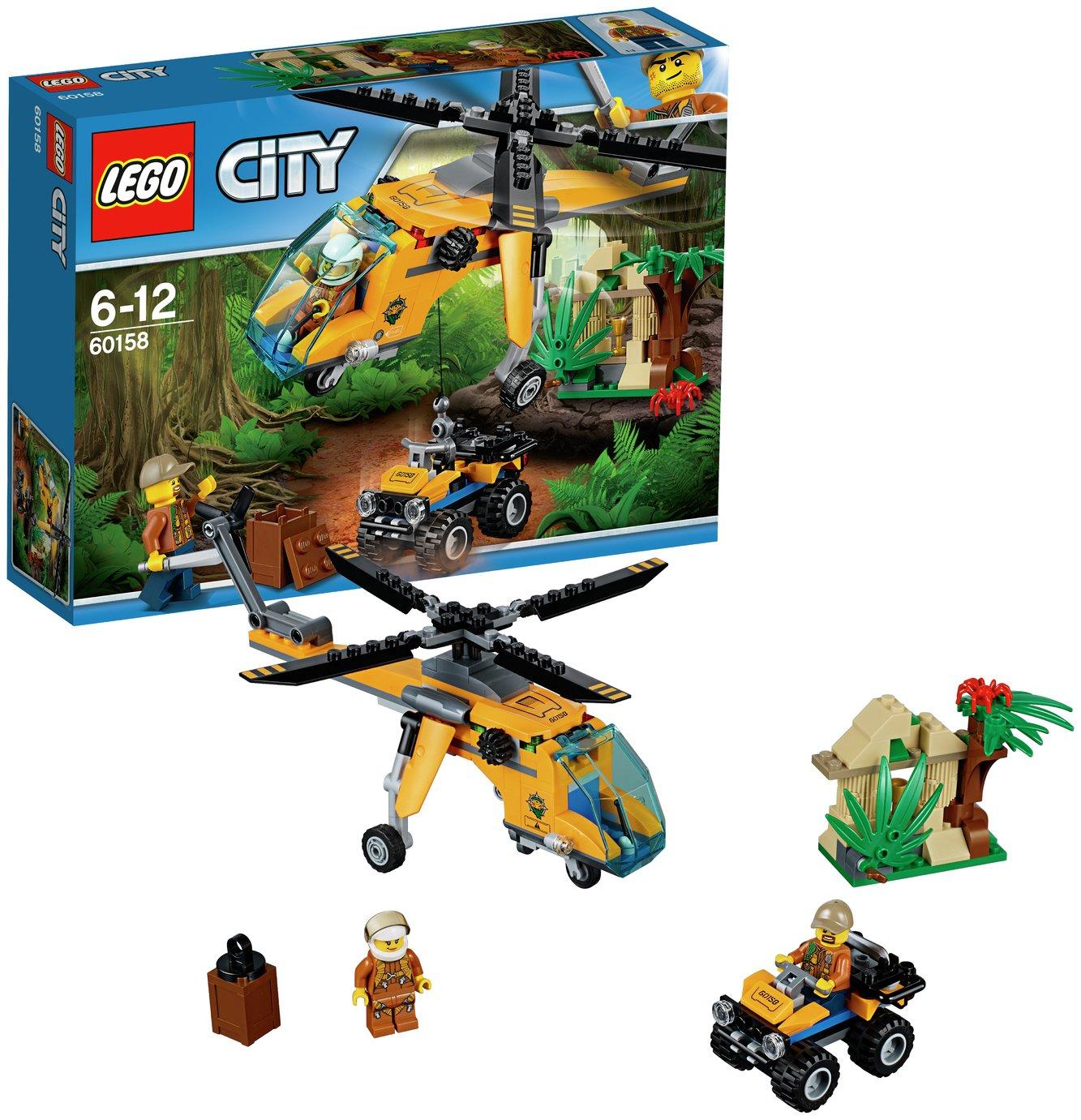 Buy LEGO City Jungle Cargo Helicopter - 60158   LEGO   Argos