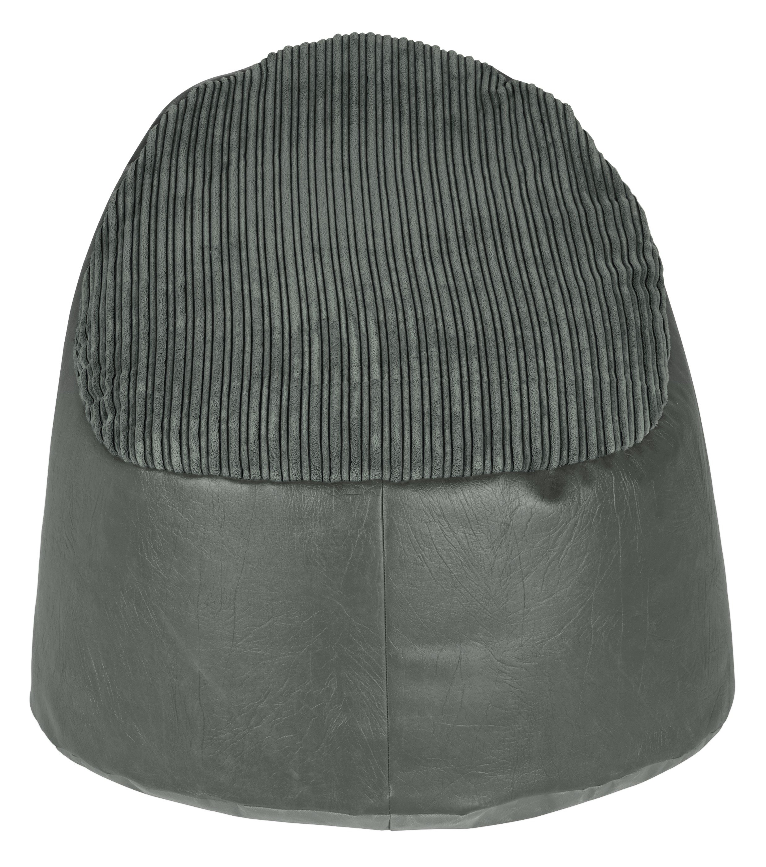 HOME Harley Fabric and Leather Effect Beanbag - Charcoal.