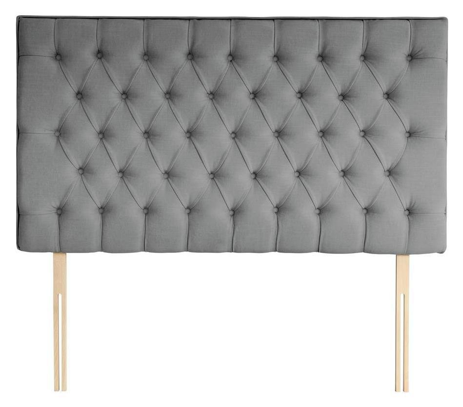 Silentnight Sassaria Slate Grey Headboard - Double