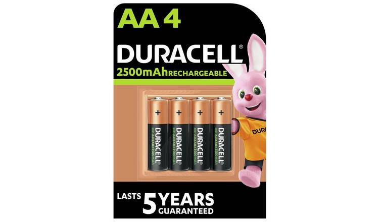 Duracell Rechargeable AA 2500mAh batteries - Pack of 4