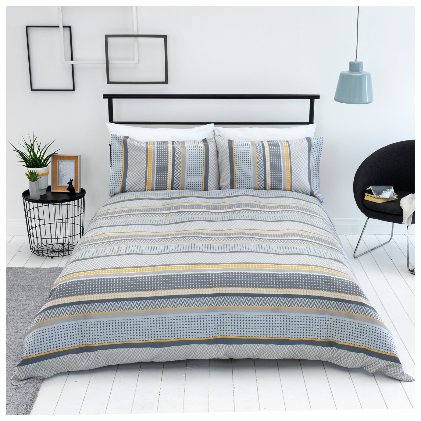 Sainsbury's Home Helsinki Jacquard Bedding Set - Double
