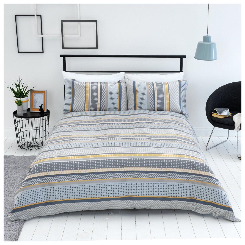 Sainsbury's Home Helsinki Jacquard Bedding Set - Double