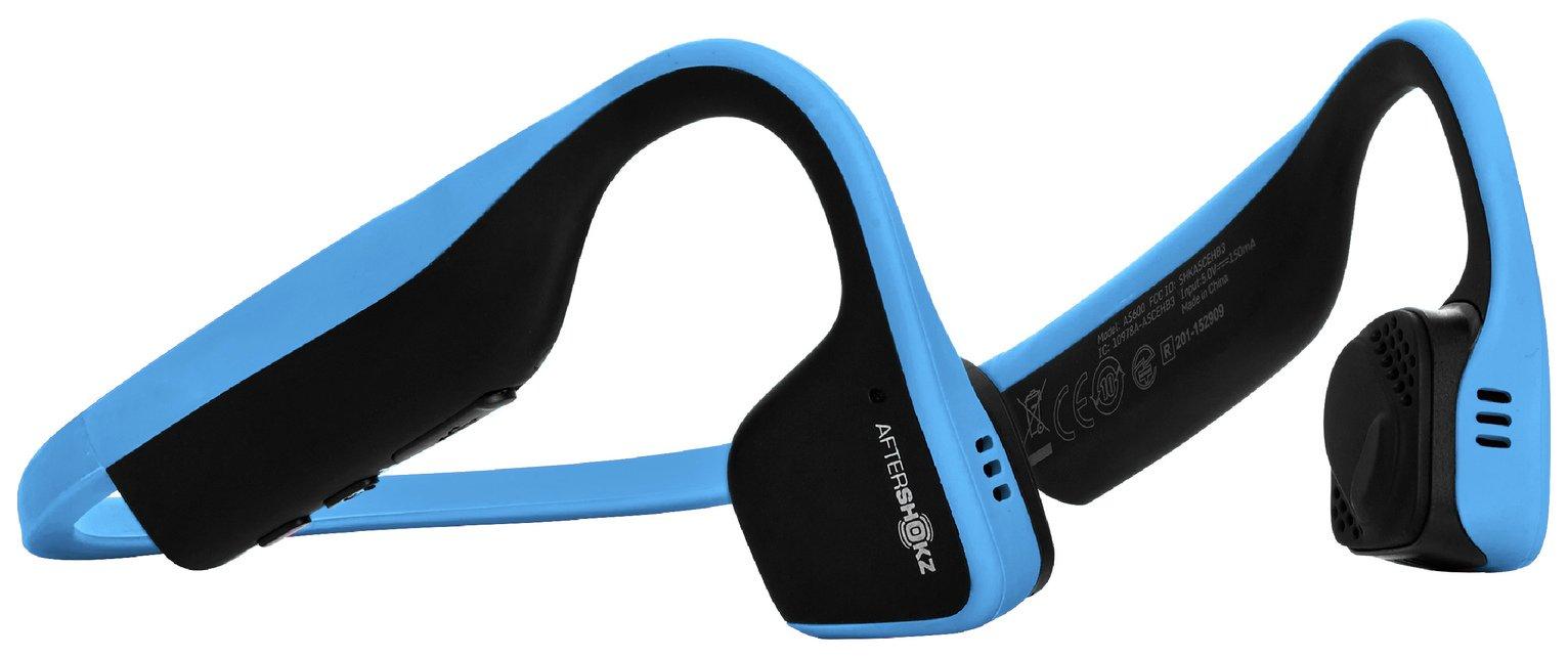 Image of AfterShokz Trekz Titanium Bone Conduction Headphones-Blue