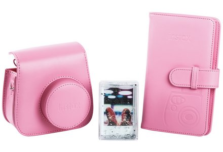 Cut out image of a Instax Mini 9 accessory kit - Flamingo Pink
