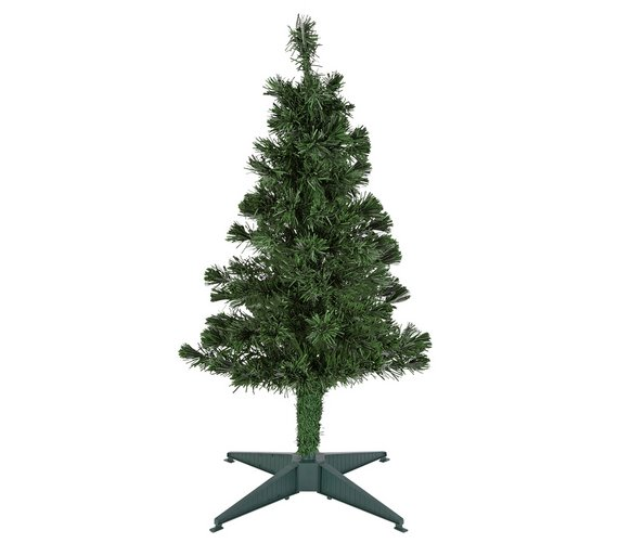 Buy Argos Home 3ft Fibre Optic Christmas Tree - Green | Christmas ...