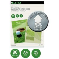 Leitz A4 80 Microns Laminating Pouches - 25 pack.