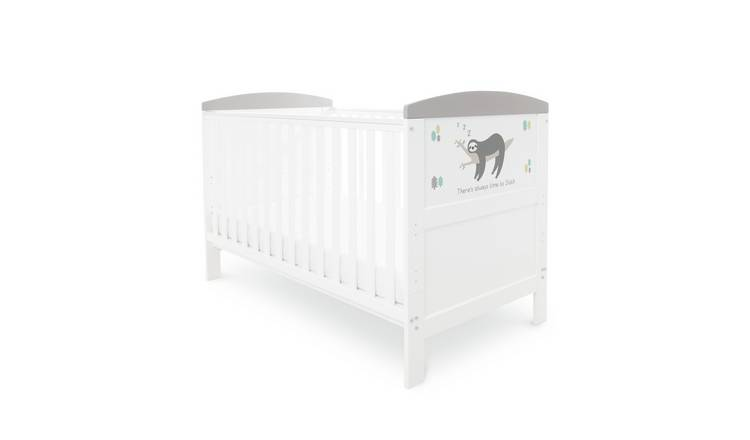 Ickle Bubba Coleby Style Cot Bed - Sloth Grey