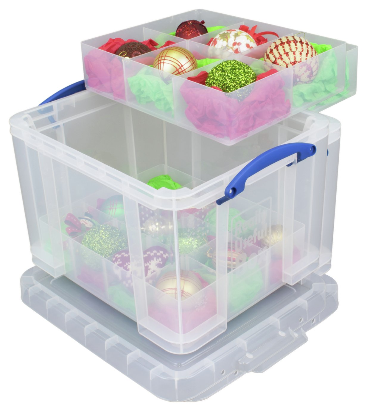 Really Useful 35 Litre storage box with 2 Trays