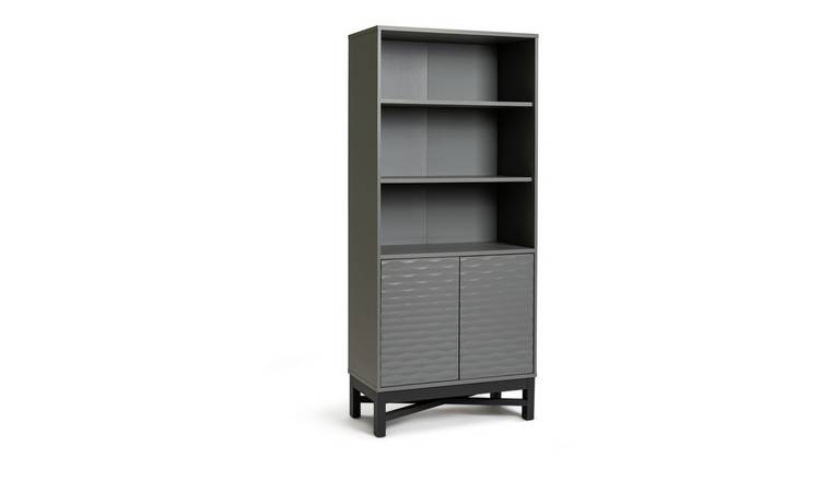 Argos Home Zander Textured Bookcase - Grey