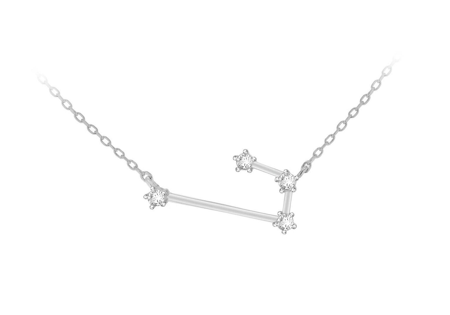 Sterling Silver Cubic Zirconia Star Sign - Aries