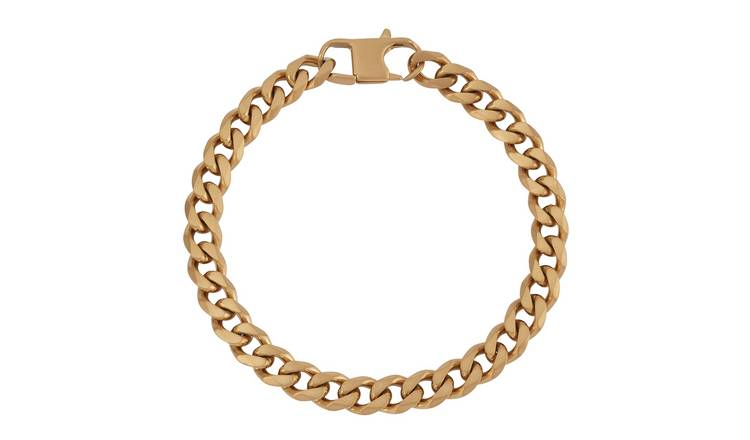 Revere Men's Stainless Steel Gold Colour Bracelet