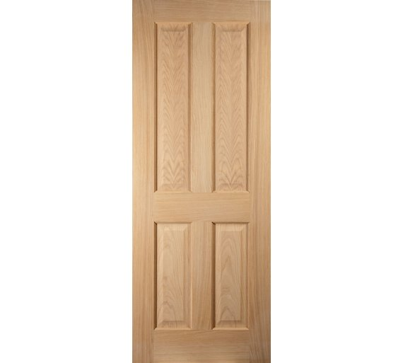 Buy Jeld Wen 4 Panel Oak Veneer Interior Door 1981 X 838mm Doors