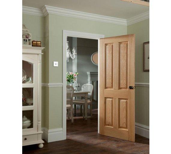 Buy Jeld Wen 4 Panel Oak Veneer Interior Door 1981 X 838mm At Your Online Shop For