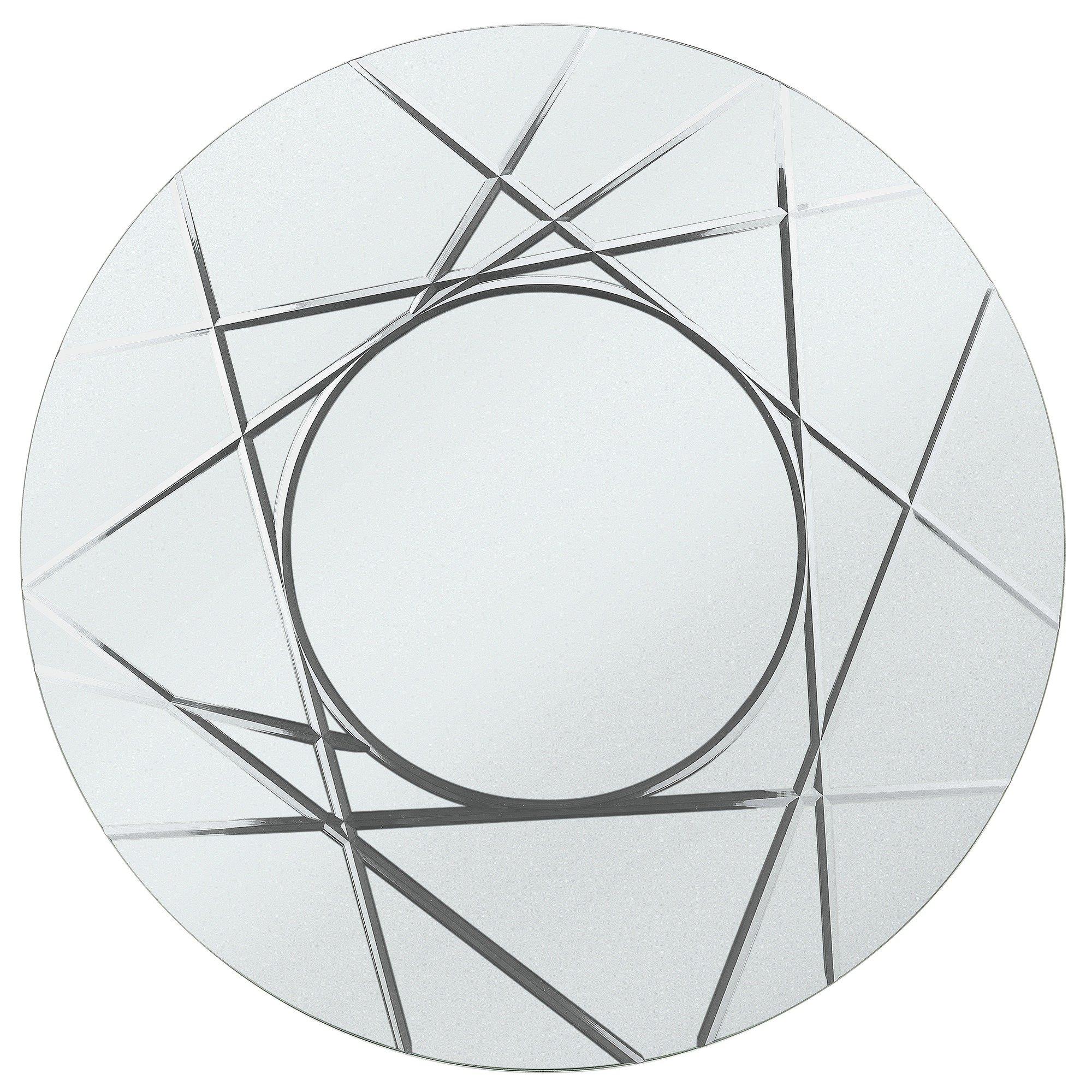 Argos Home Flint Round Grooved Wall Mirror