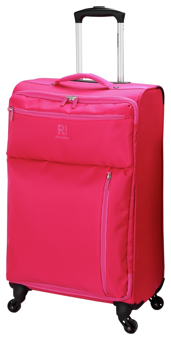 Buy Revelation! Weightless Large 4 Wheel Soft Suitcase - Pink at ...