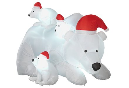 Image of a HOME Inflatable Polar Bear Family.