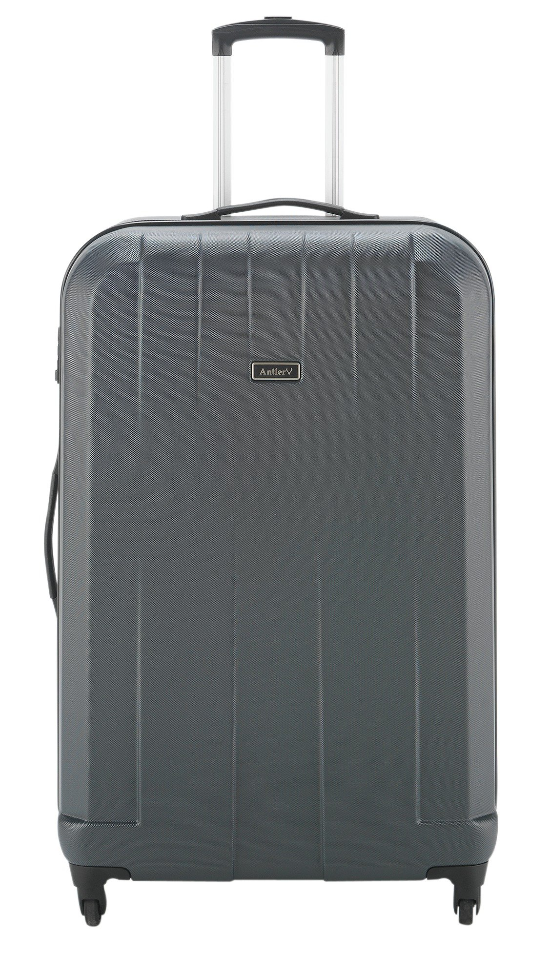 Image of Antler Quadrant Large 4 Wheel Hard Suitcase - Black/Silver