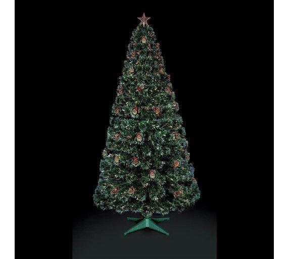 premier decorations 4ft fibre optic tree star green