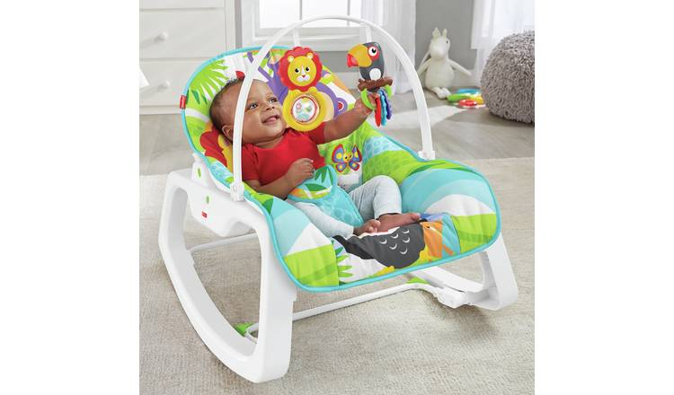 Baby Gear Baby Swings Fisher-price Rainforest New-born Baby Bouncer/rocker/chair With Vibration+toybar