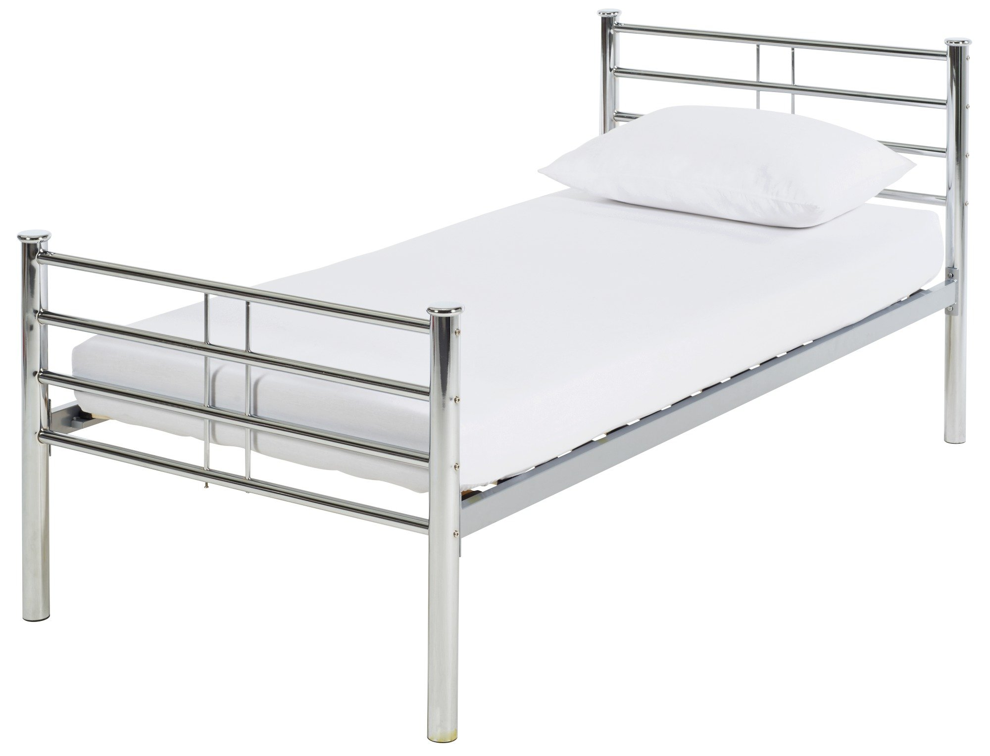 Image of Collection Kaira Single Bed Frame - Chrome