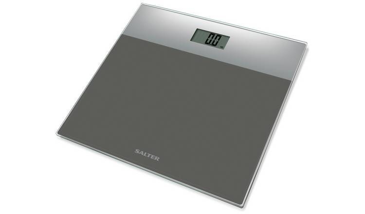 Salter Glass Electronic Bathroom Scales - Silver