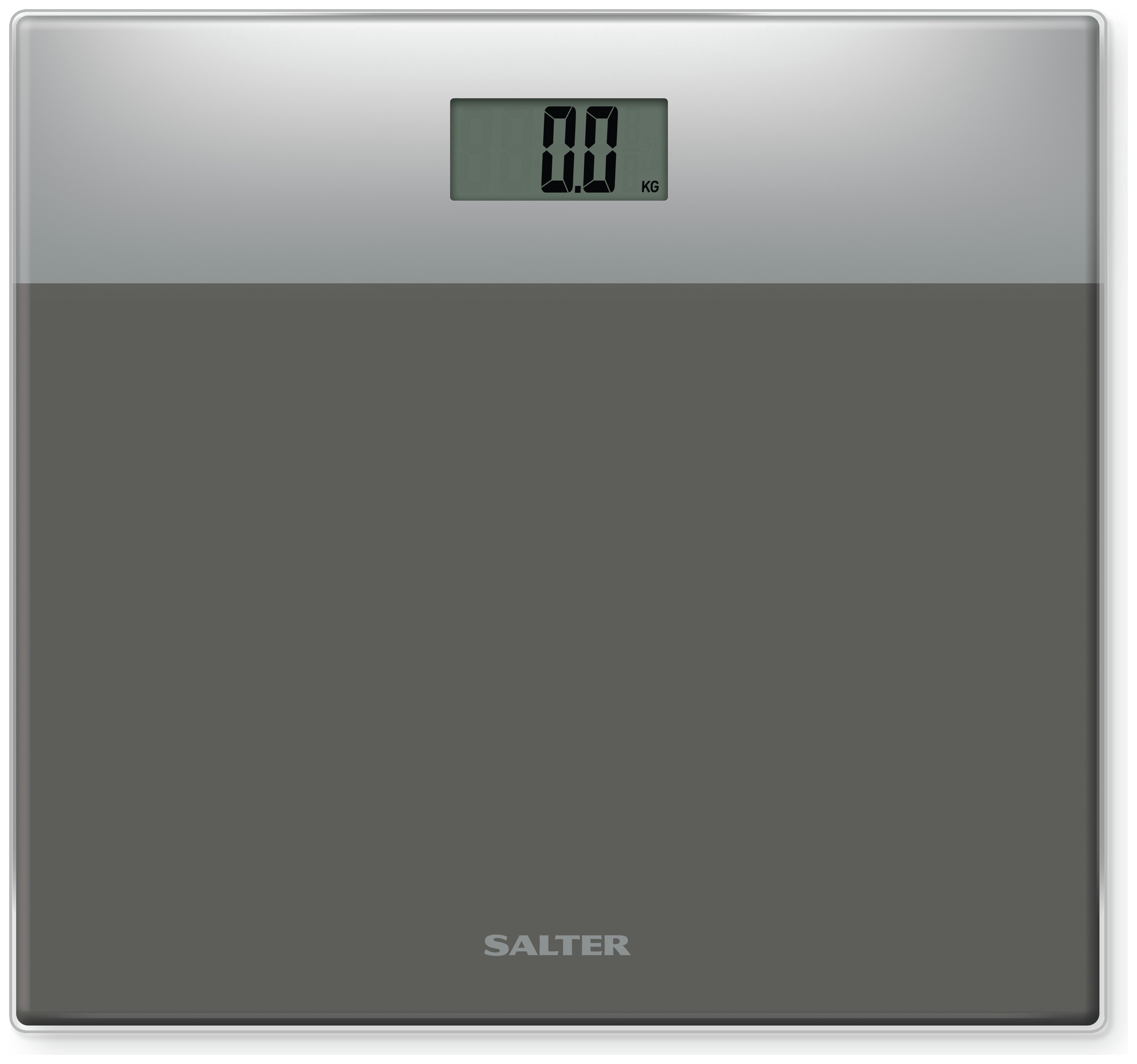 Salter Glass Electronic Bathroom Scales   Silver