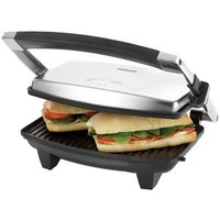 Cookworks 2 Slice Panini Grill - Stainless Steel