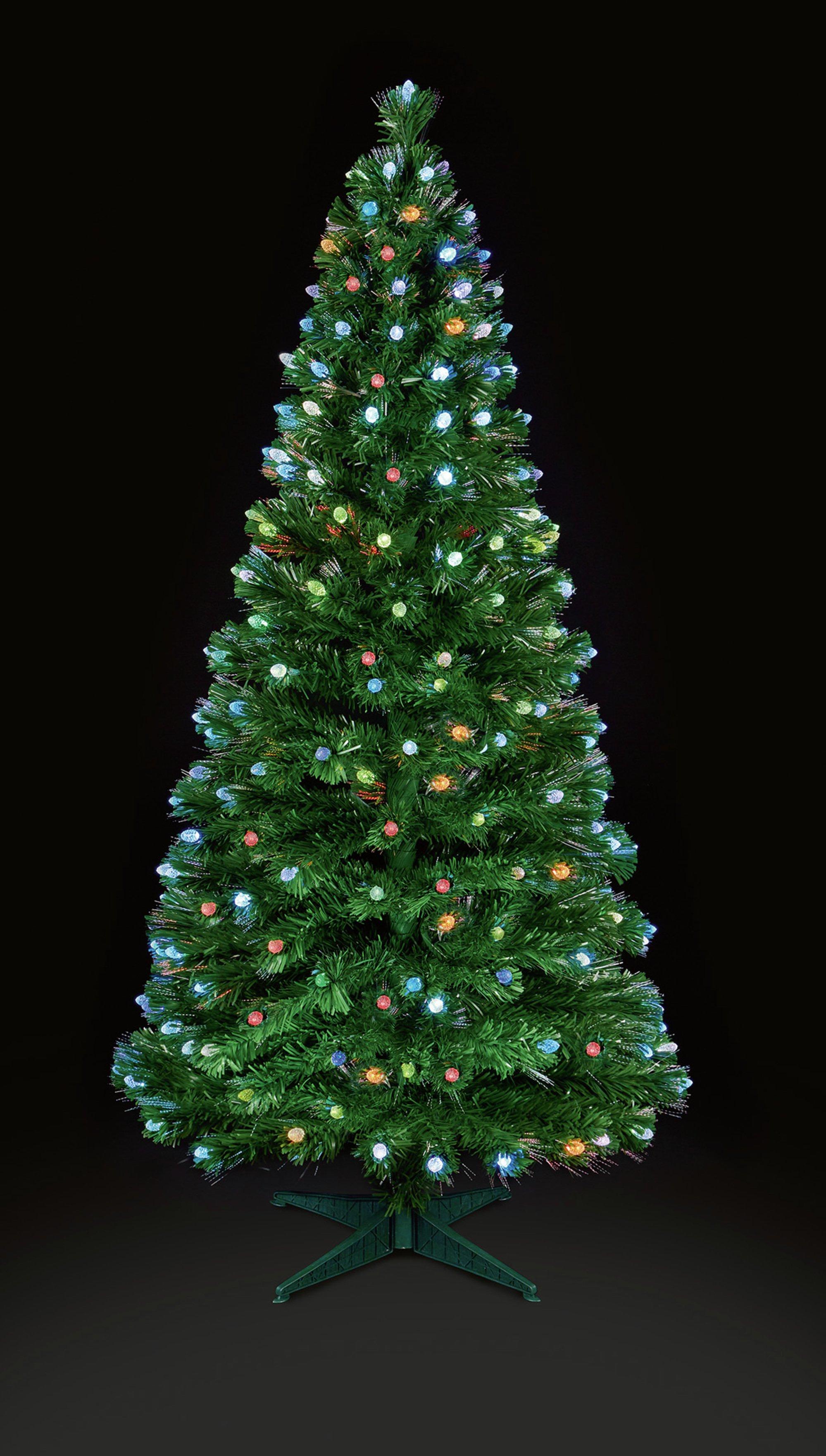 Buy Premier Decorations 4ft Multi Led Fibre Optic Tree Green