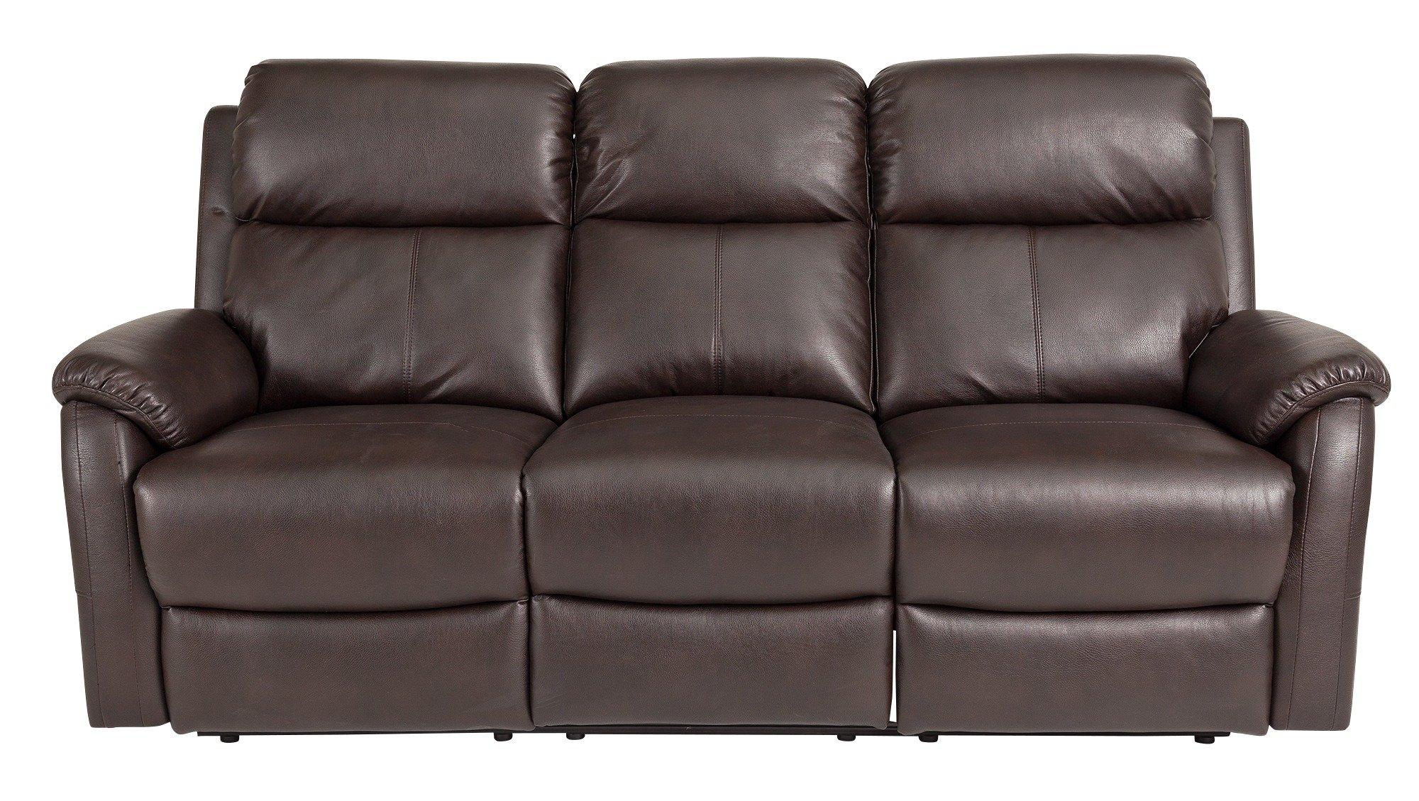 sale on home tyler 3 seater leather effect recliner. Black Bedroom Furniture Sets. Home Design Ideas