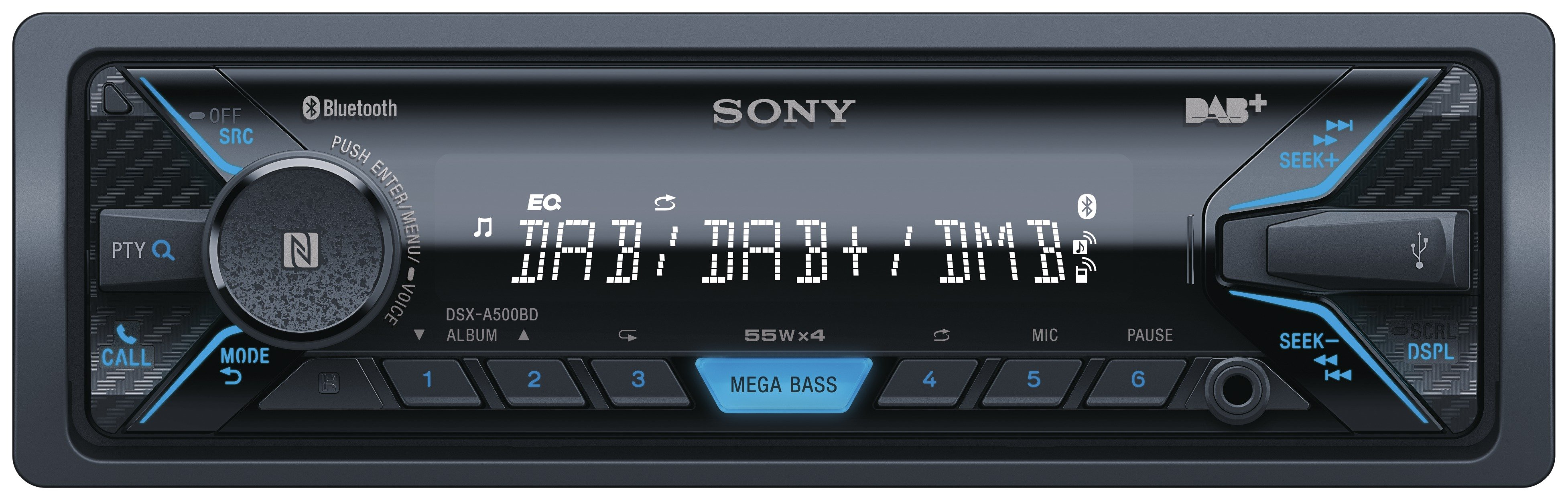 Sony DSX-A500 DAB Bluetooth Car Stereo.