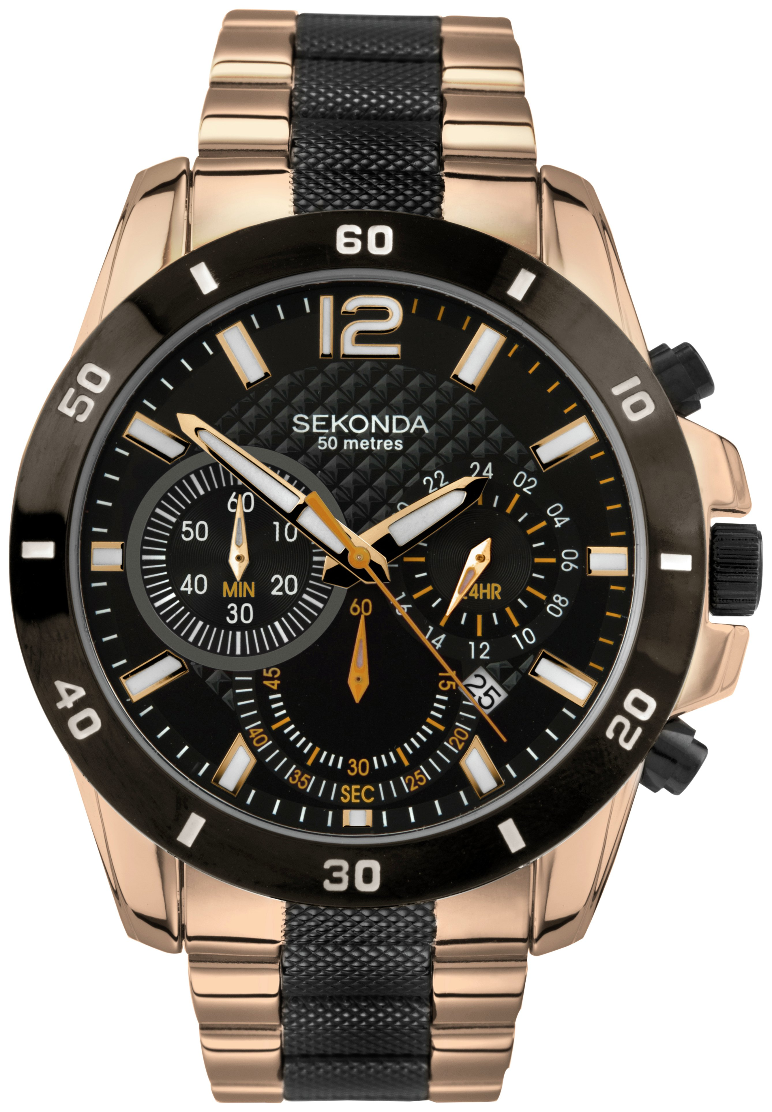 sekonda-men-black-rose-gold-plated-chronograph-watch