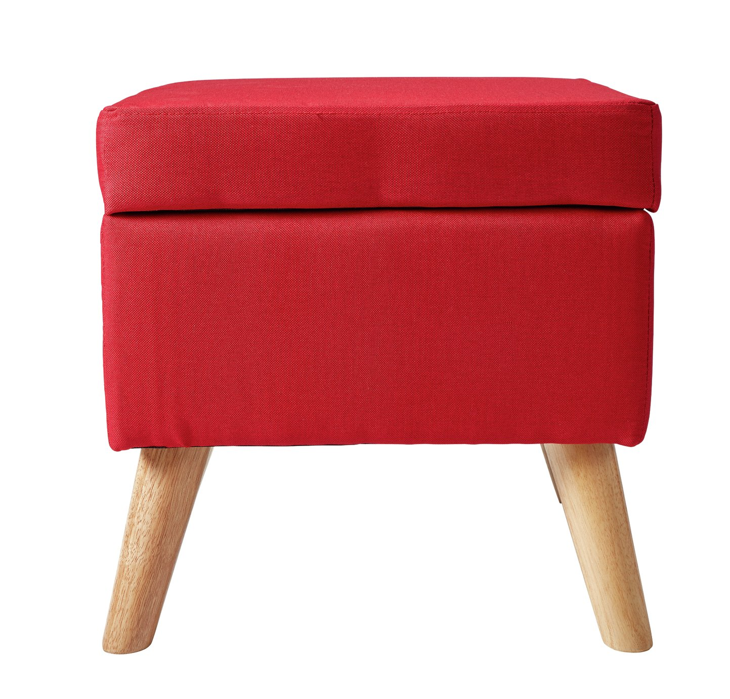 Argos Home Lexie Fabric Storage Footstool - Red