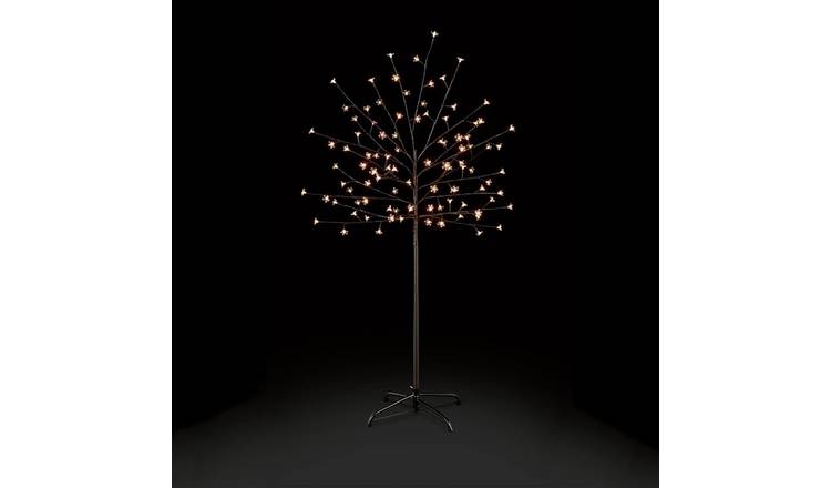brand new ca233 4275a Buy Premier Decorations 5ft White LED Pre-lit Cherry Tree -Black    Christmas table and room decorations   Argos