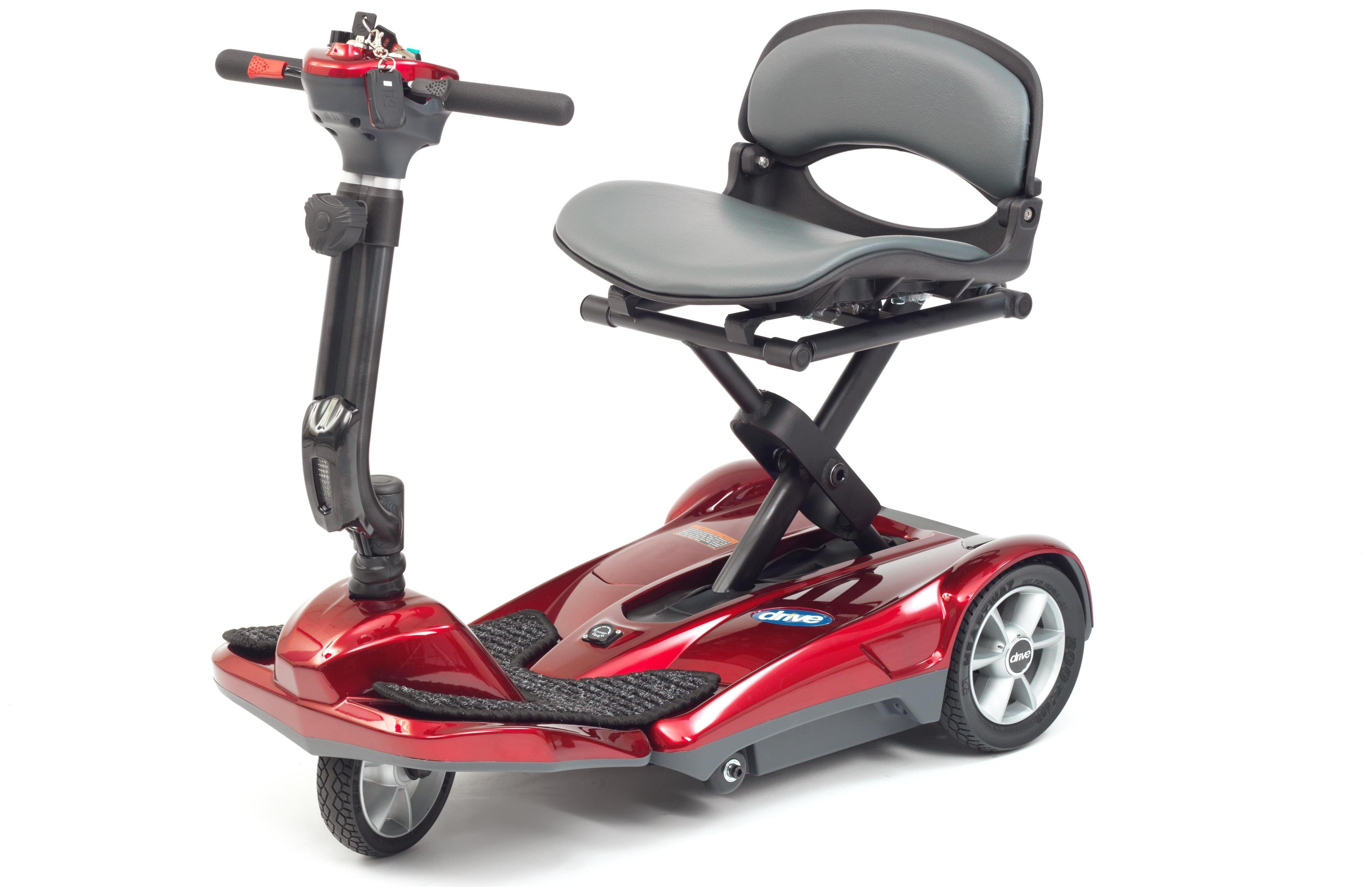 Red Folding Boot Scooter.