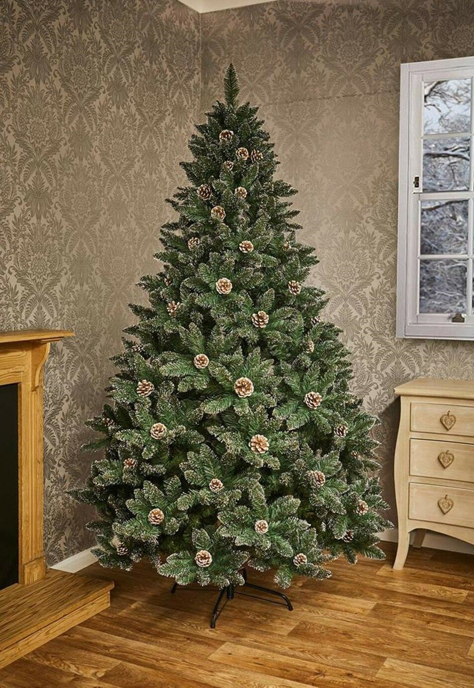 premier-decorations-7ft-snow-tipped-mountain-pinetree-green